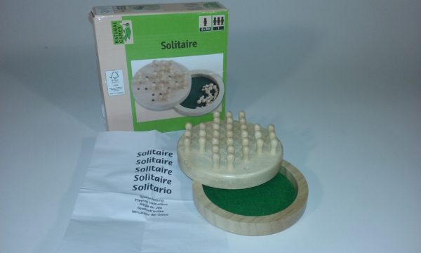 Natural Games Solitaire koks 12 cm