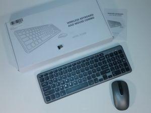 TOPELEK Bezvadu klaviatūra ar peli DE valodas izkārtojums