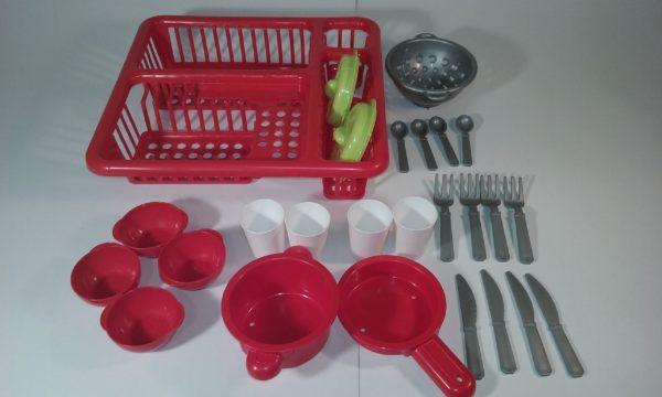 Ecoiffier 8/000608 – virtuves trauku komplekts, rotaļlieta