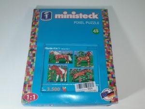 Ministeck 31301 – pikseļpuzle Zirgi 4 in 1, aptuveni 3500 detaļu